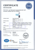 Certificate EN ISO 9001 as PDF