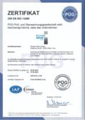 Zertifikate EN ISO 13485 als PDF