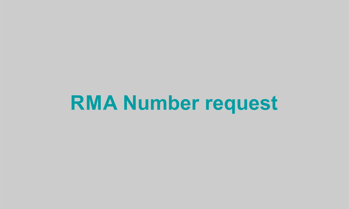 RMA Number request