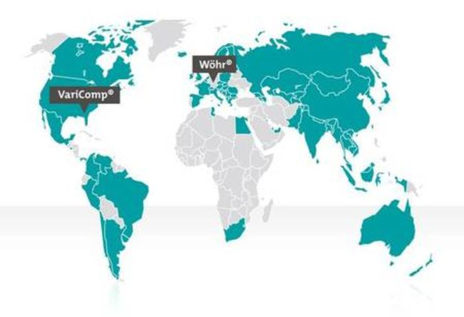 Subsidiaries and export world-wide