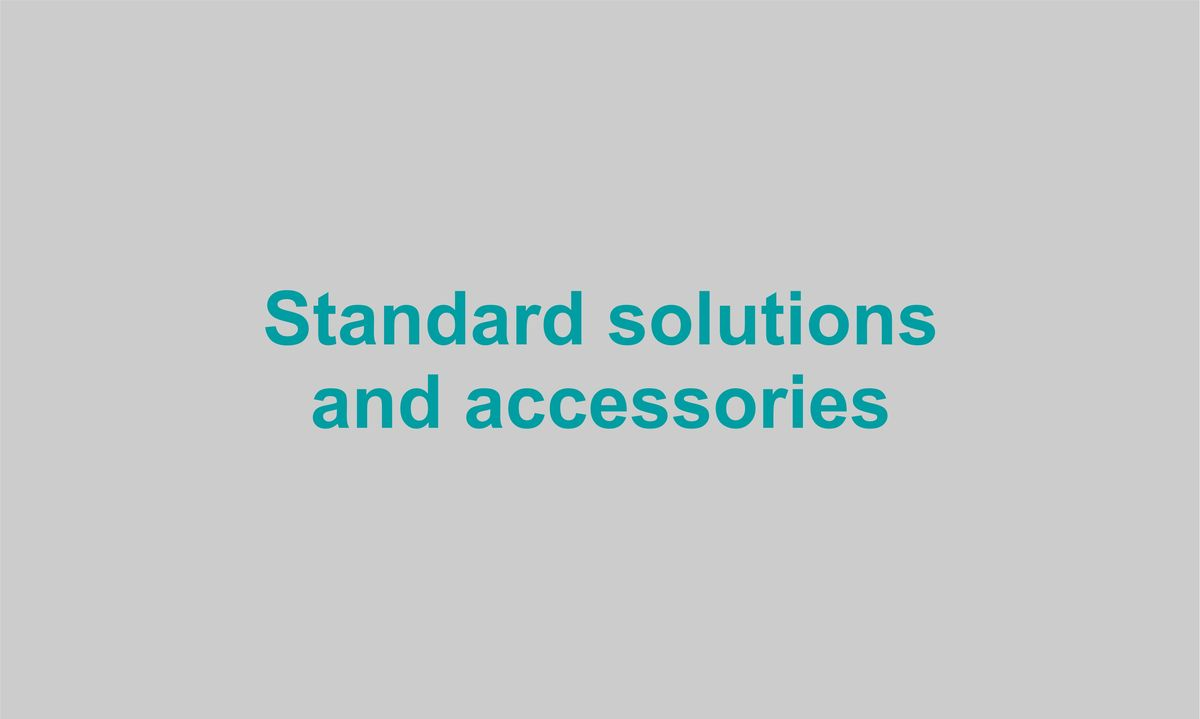 Standard solutions and accessories