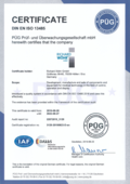 Certificate EN ISO 13485 as PDF