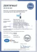 Zertifikate EN ISO 9001 als PDF