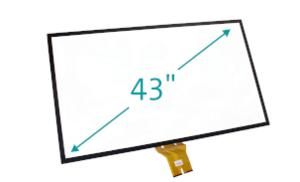 """Herstellung & Verarbeitung von 43"""" Touchscreen mit Glas - Sensor"""