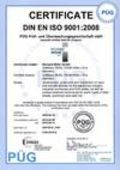 Certificate EN ISO 9001 as PDF