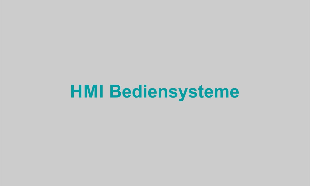 HMI Bediensysteme