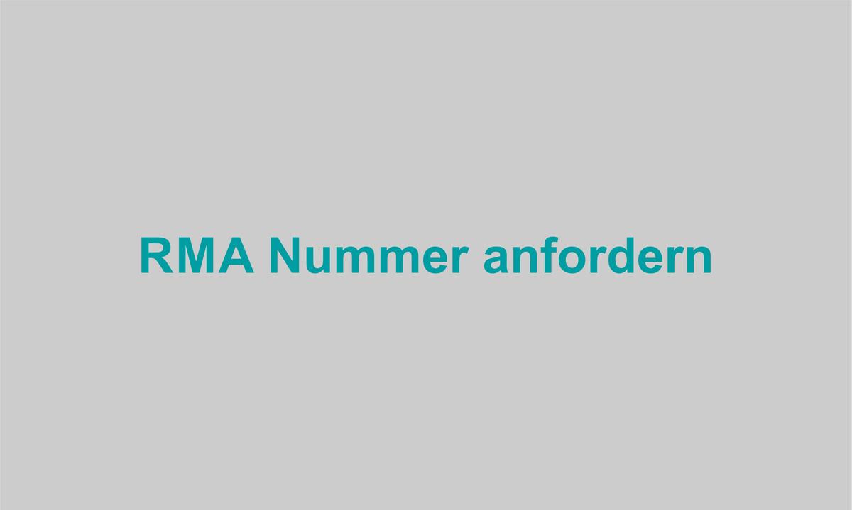 RMA Nummer anfordern
