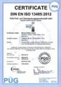 Certificate EN ISO 13485 as PDF