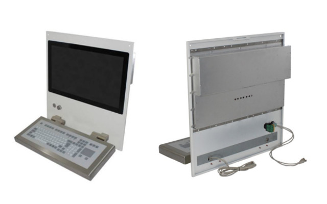 "Projects | Enclosure system with ready for connection mounted 21,5"" display with WALLY7 keyboard"